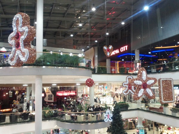 Allee shopping before Christmas